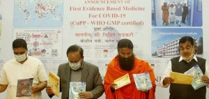 Patanjali issues clarification for Coronil